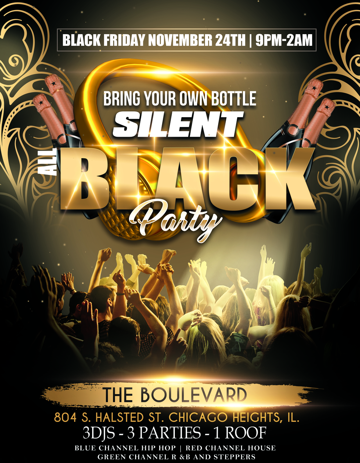 all black silent party