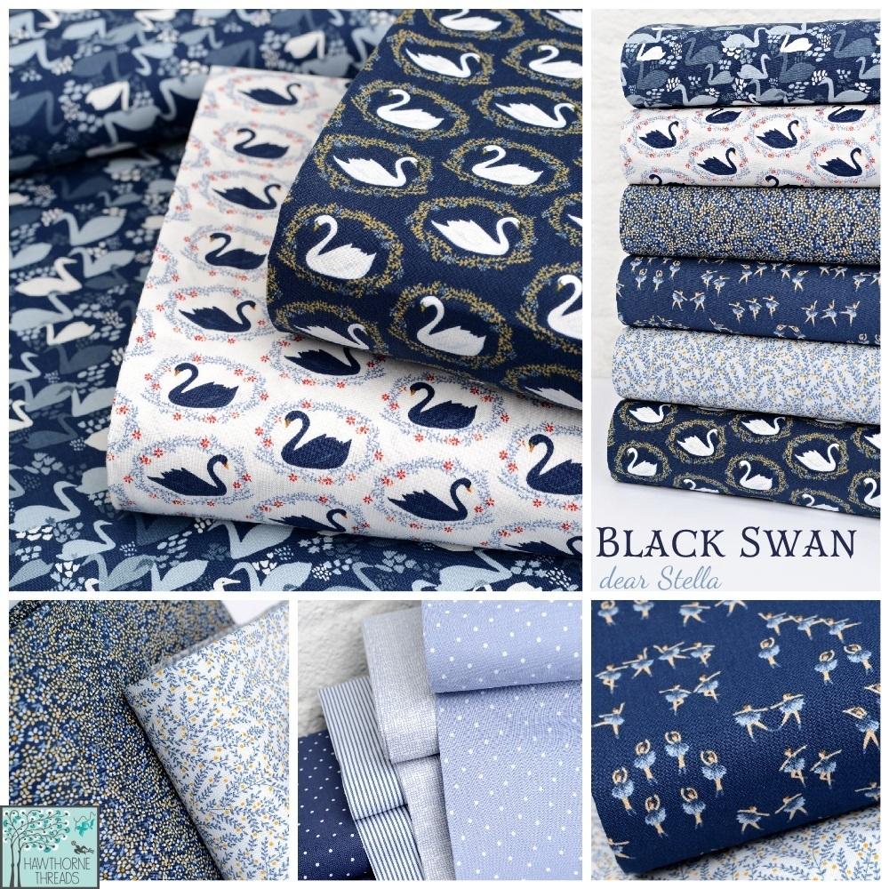 Black Swan Fabric Poster