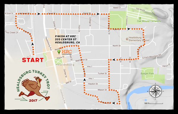 turkey trot 2017 map