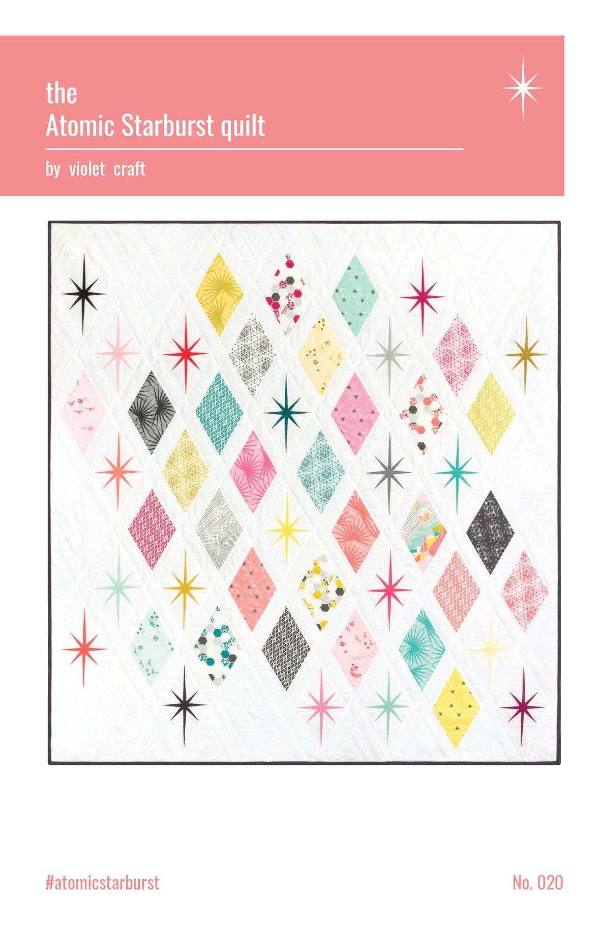violet craft atomic starburst sewing pattern