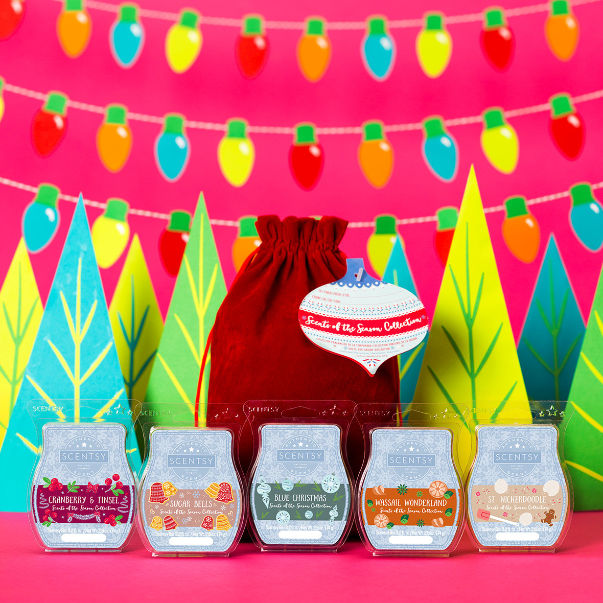 Scentsy FLASH Sale! 5 FREE Bars with $35 Tinsel Warmer