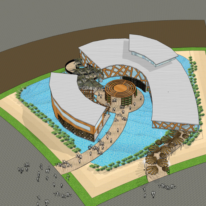 1 Bahamas Pavilion Birds Eye View Rendering Oct 2017 2017