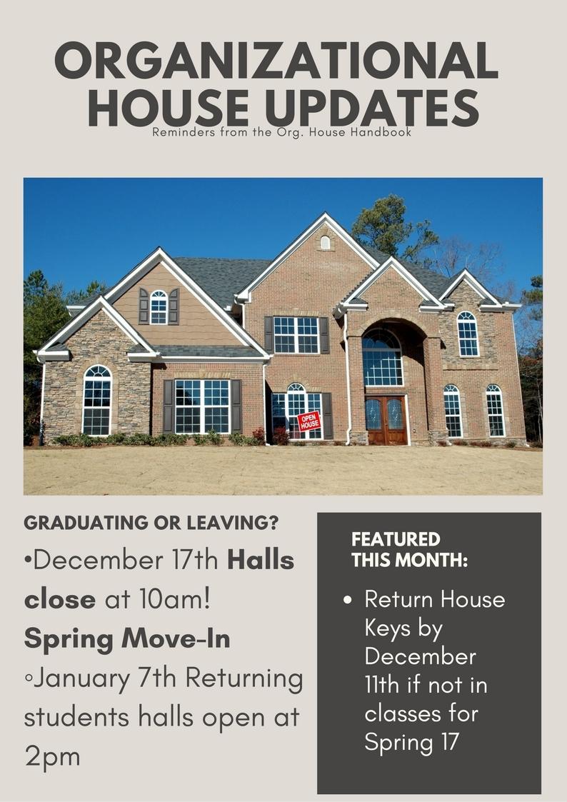 Org. House Update December 17