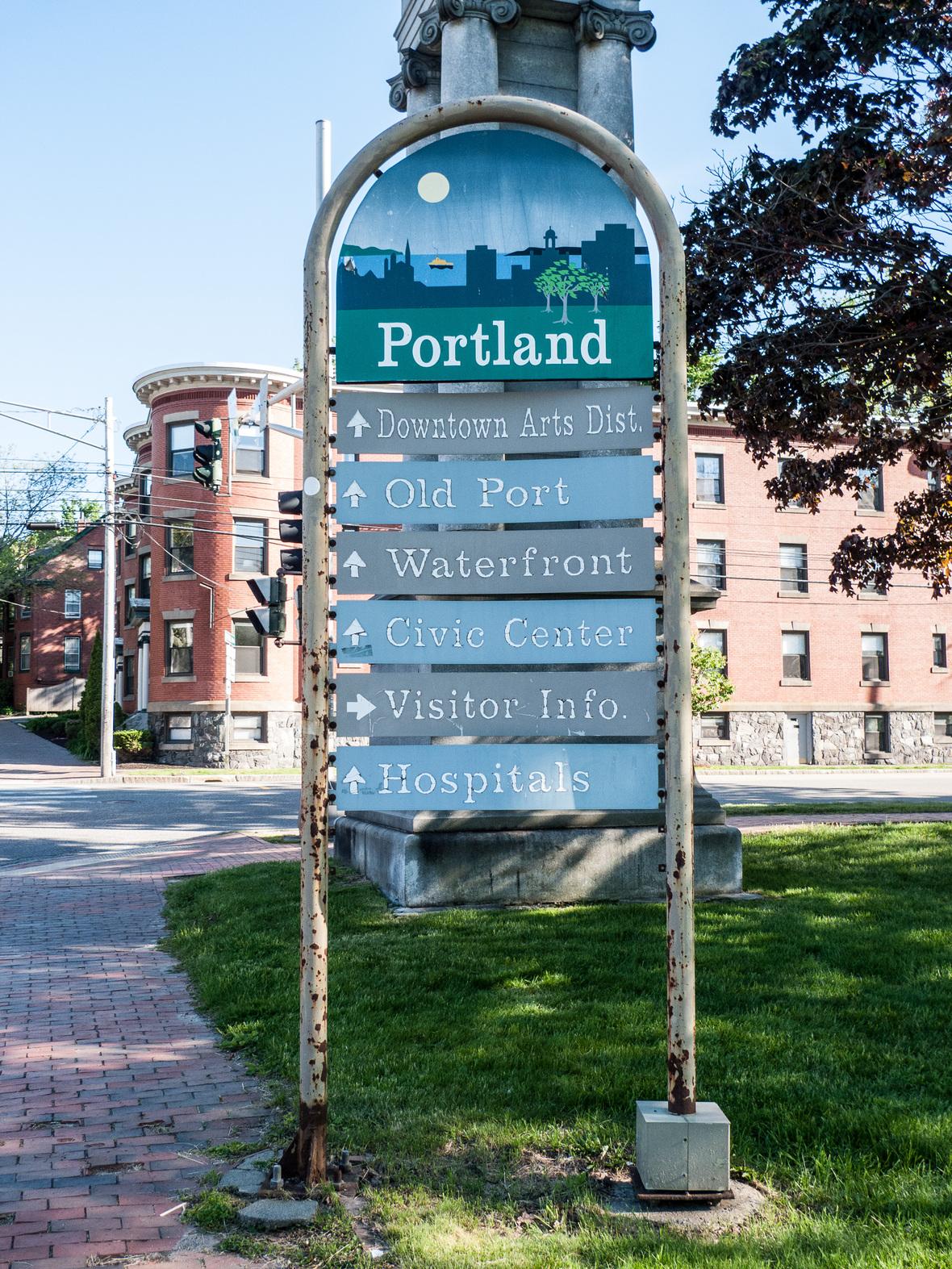 Sign in Deering Oaks Portland Maine