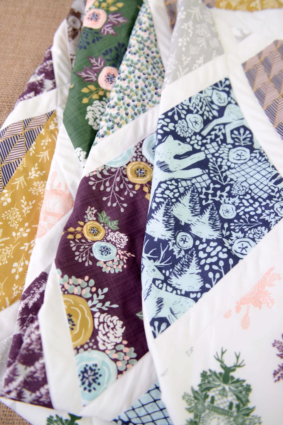 Black Forest Faux Patchwork Quilt Close Up