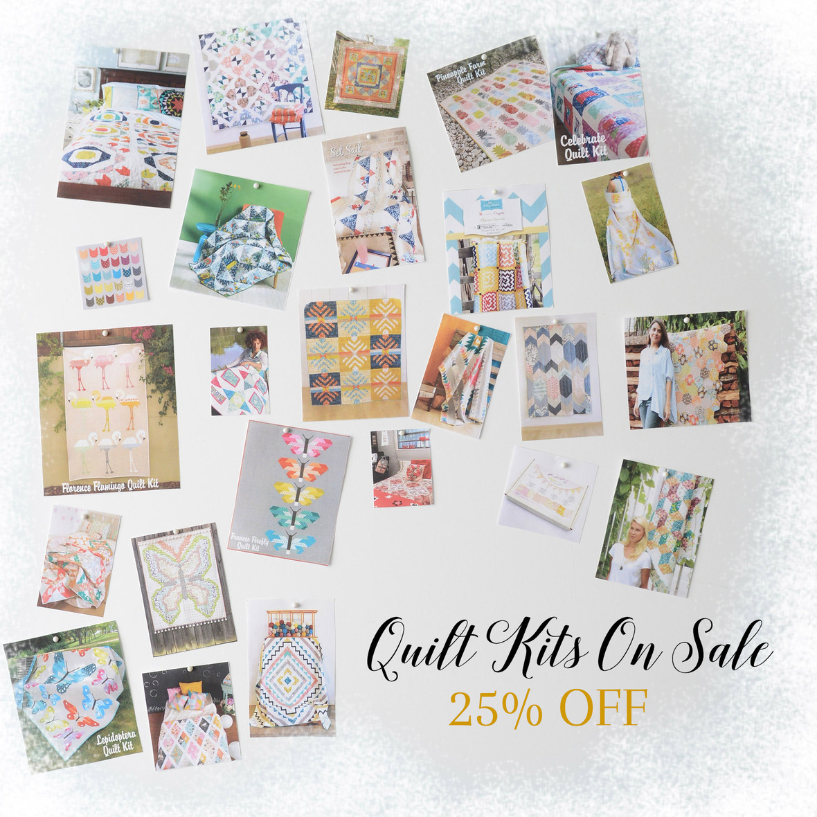 Quilt Kits on Sale with Frosty Border 6x6