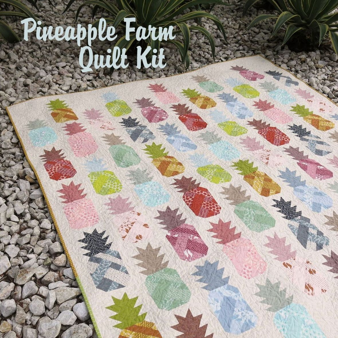 elizabeth hartman pineapple farm quilt kit sewing pattern