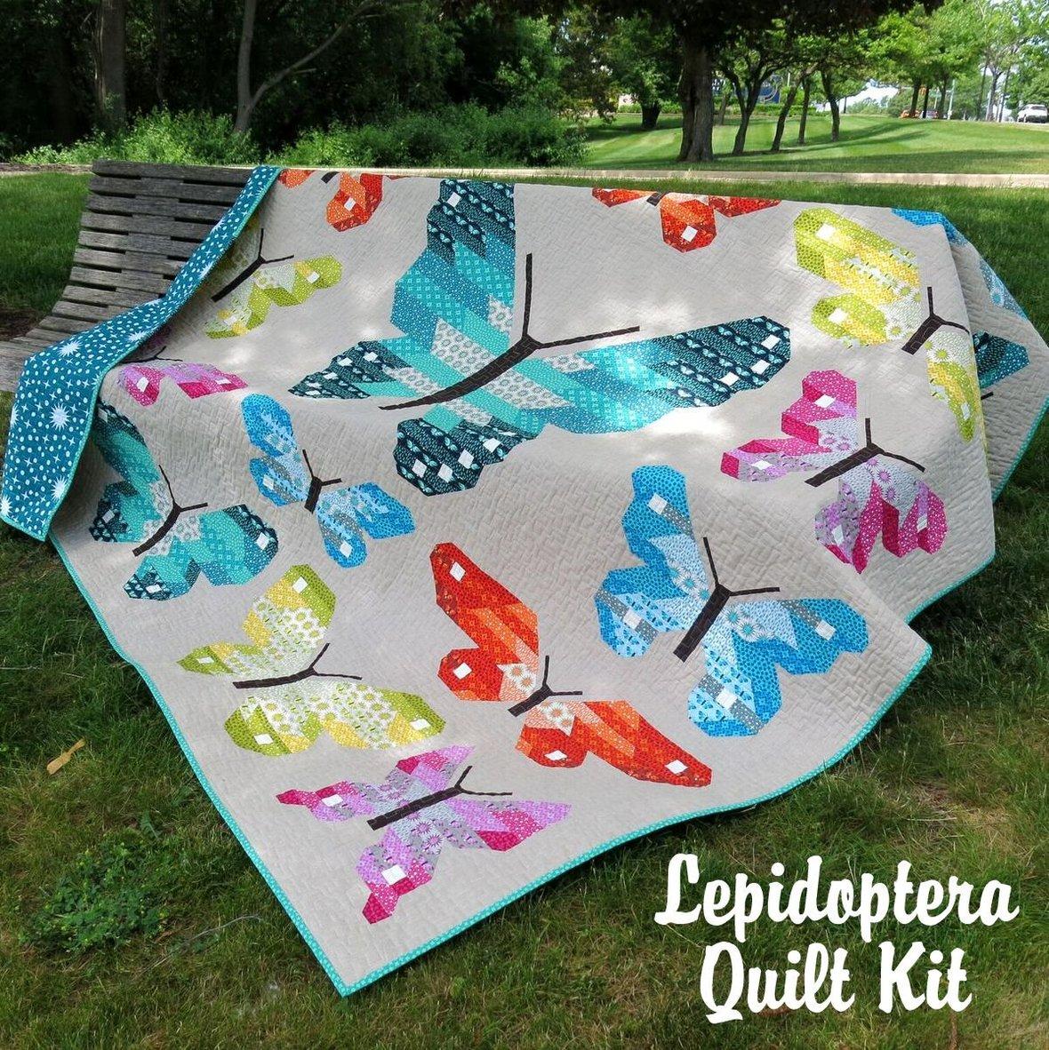 elizabeth hartman lepidoptera quilt kit sewing pattern