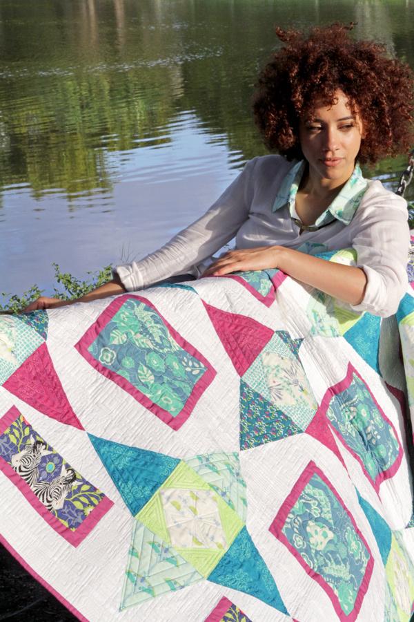 frances newcombe safari stars quilt kit sewing pattern
