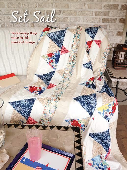 patricia bravo set sail quilt kit sewing pattern