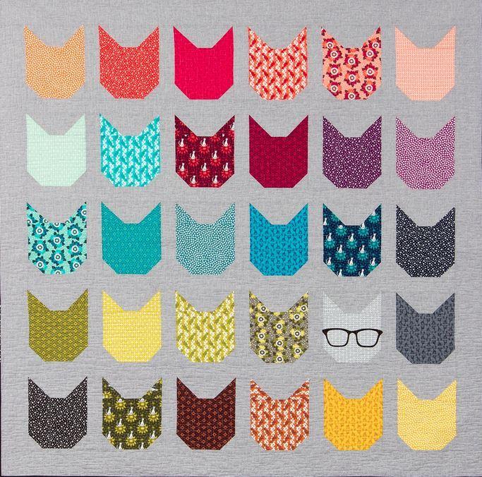 elizabeth hartman the kittens quilt kit sewing pattern