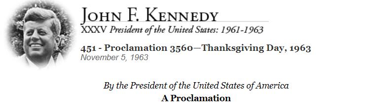 Kennedy Proclamation