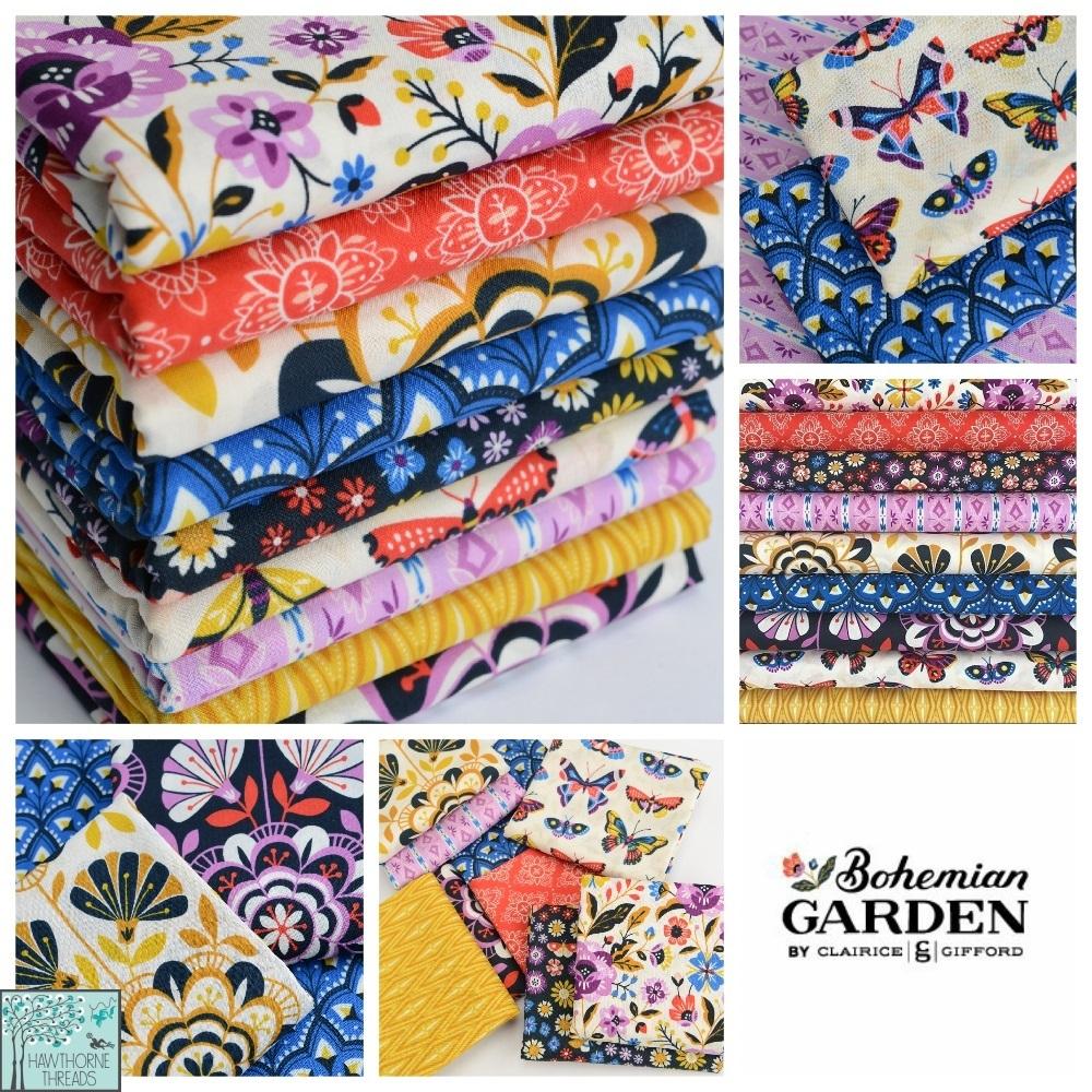 Bohemian Garden Fabric poster