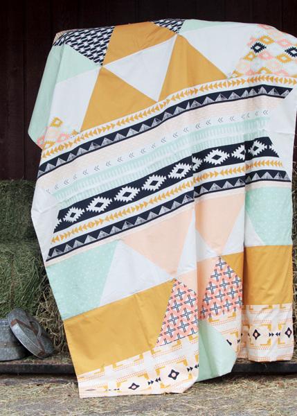 april rhodes rising quilt kit sewing pattern