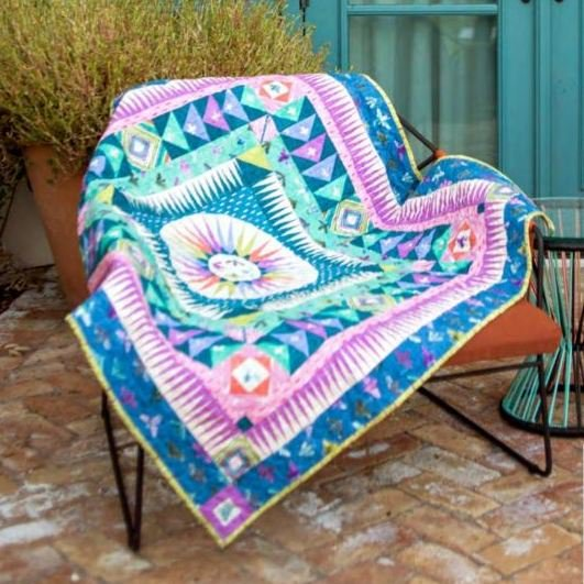 carrie bloomston medallion quilt kit sewing pattern