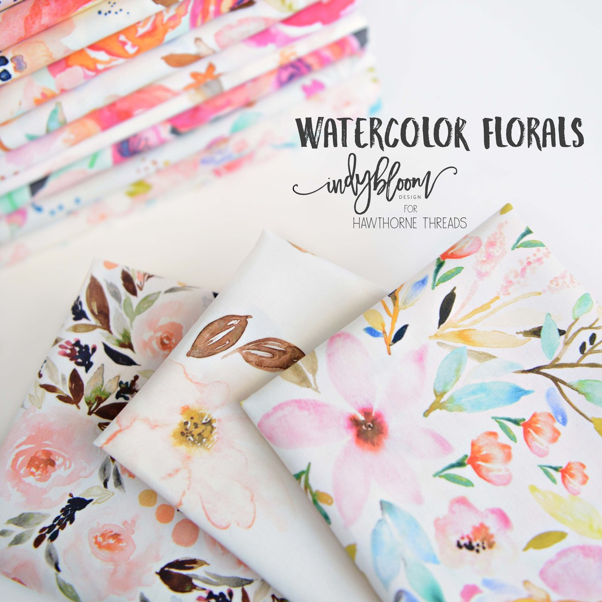 New Watercolor Florals from Indy Bloom