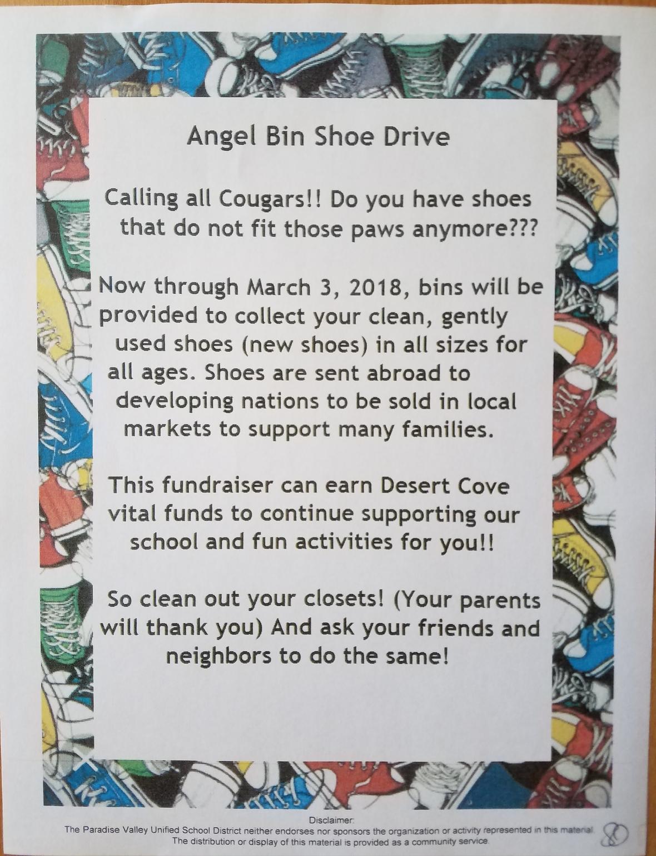 Angel Bin Shoe Drive