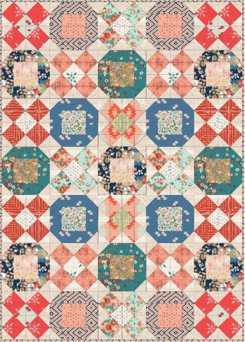 art gallery- x s and o s quilt - free pattern