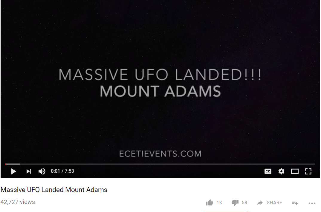 UFO Landing Mt Adams 11.25.17