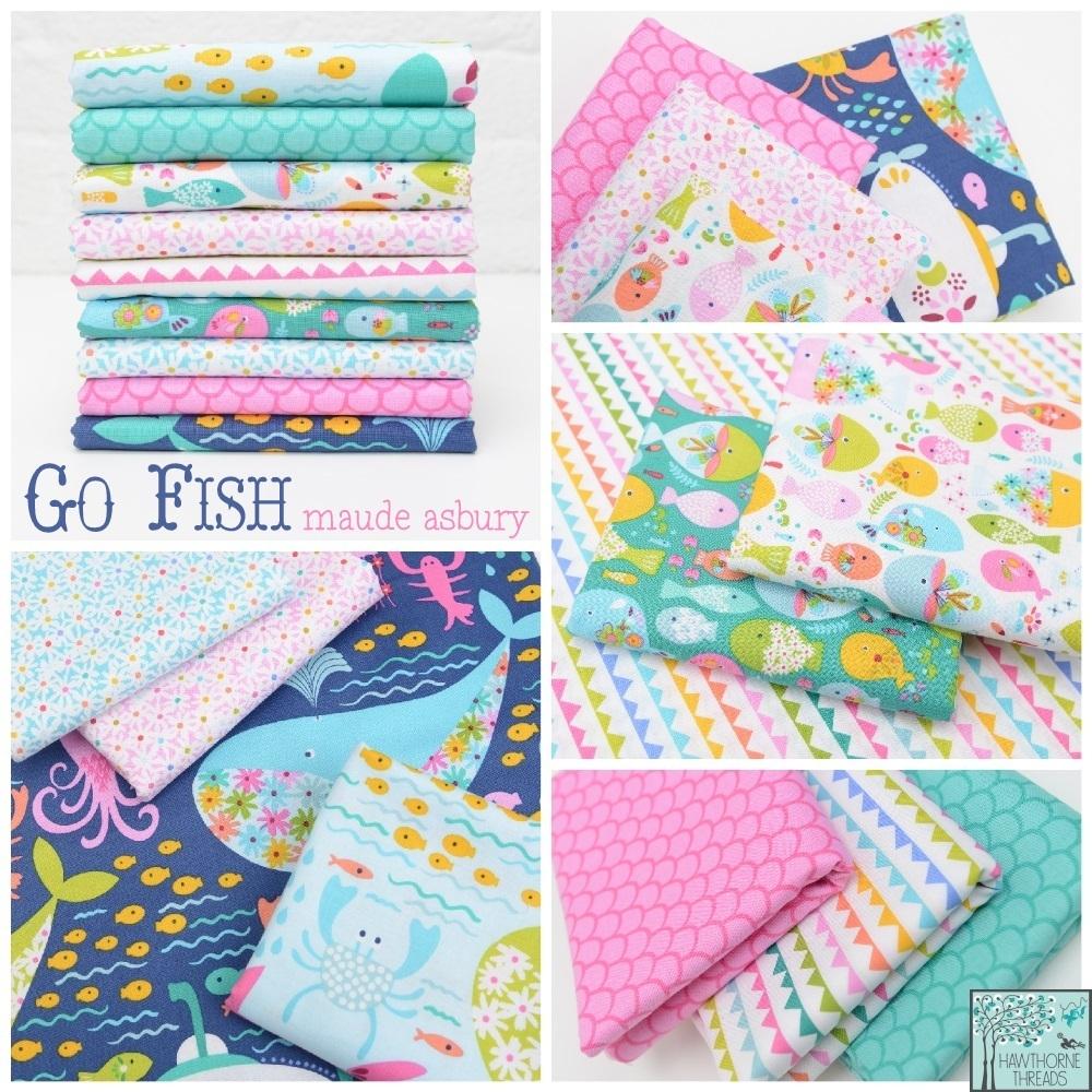 Go Fish Fabric Poster