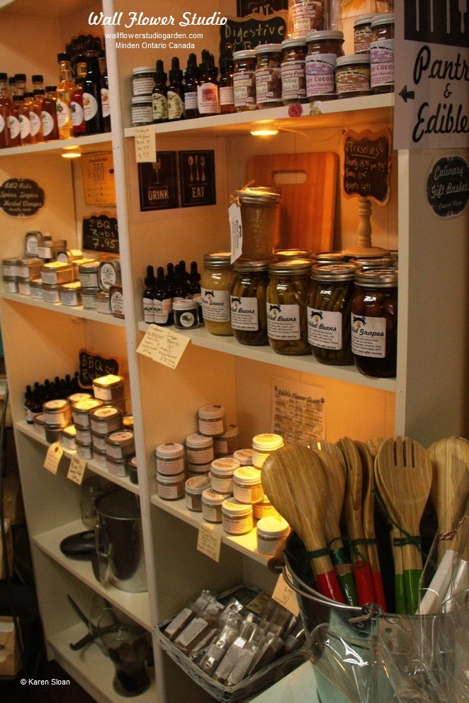 Culinary goods at Wall Flower Studio