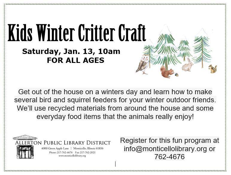 Winter critter craft bulletin