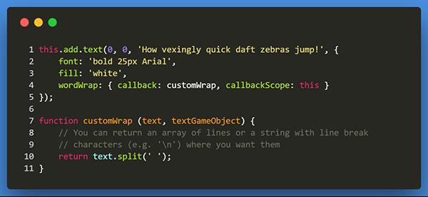Phaser 3 Dev Log #109: Sound seeking, Text Wrapping, Pointer