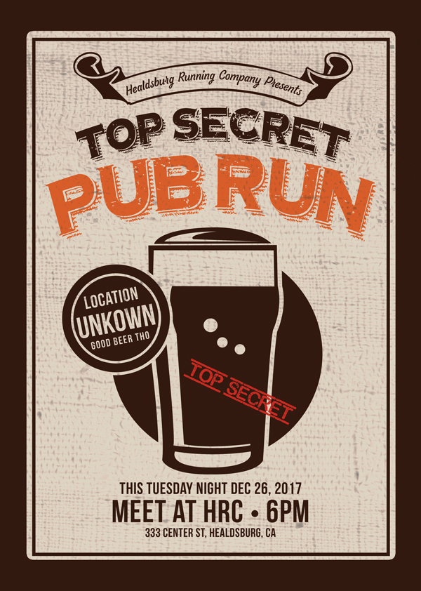secret pub run