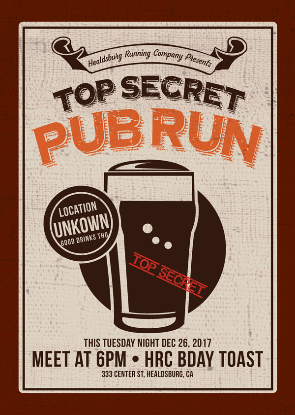 secret pub run