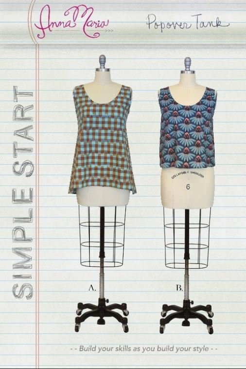 anna maria horner popover tank sewing pattern