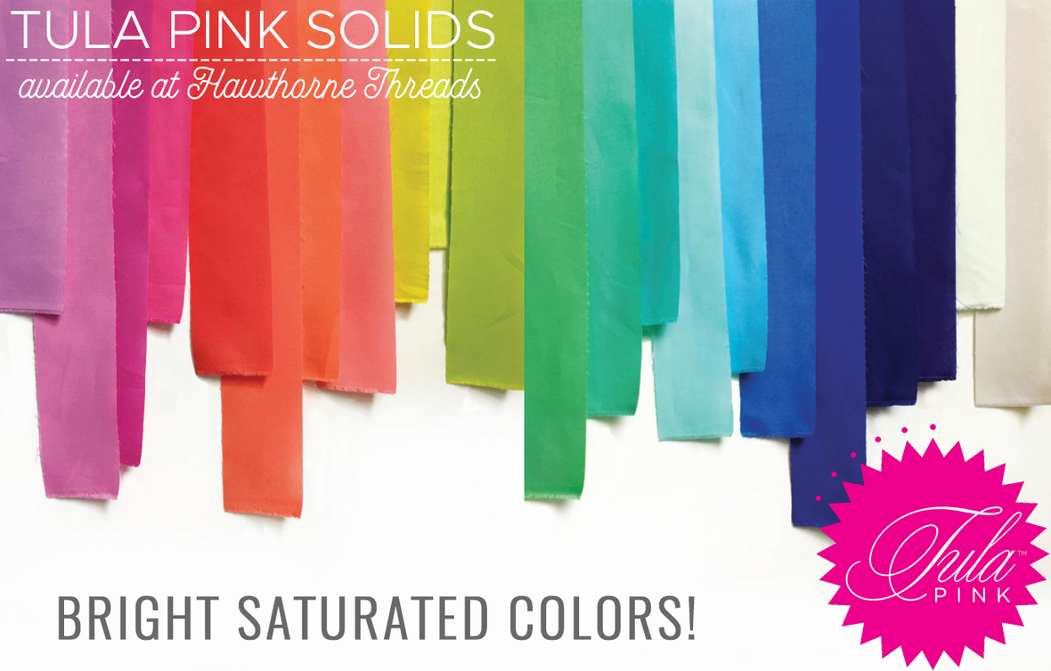 Tula pink solids fabric poster