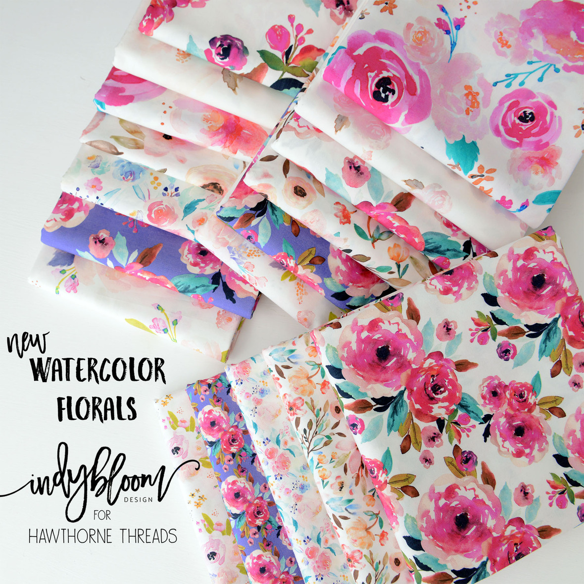 January 18 New Watercolor Florals from Indy Bloom