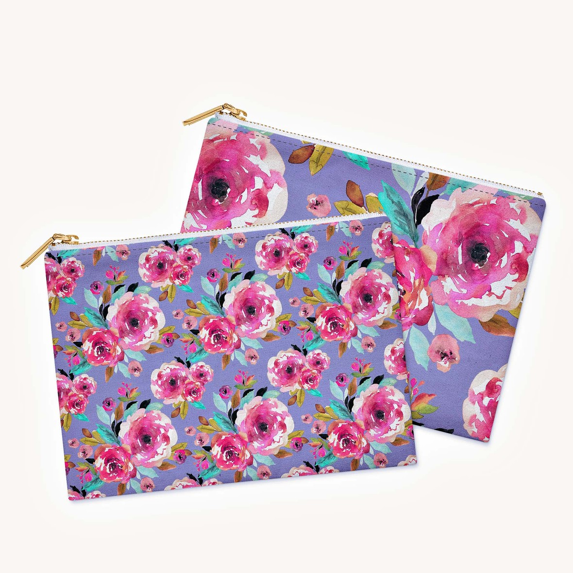 Tiny and Little Roselynn Floral on 4x6 pouches c