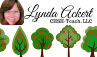 Lynda Ackert - Business card 200 width with trees