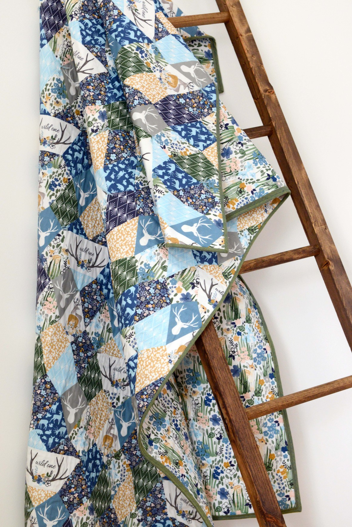 Oh Deer Fabric Arcadian Quilt Ladder