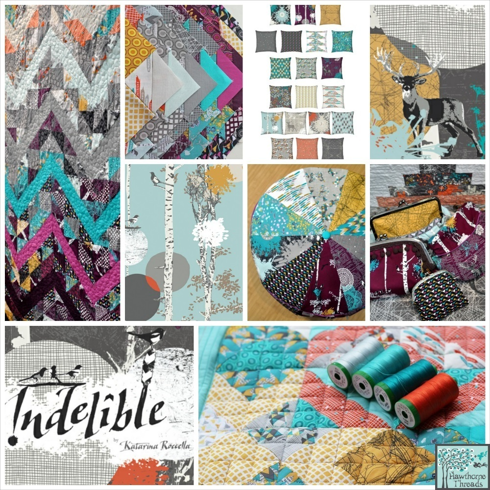 Indelible fabric poster