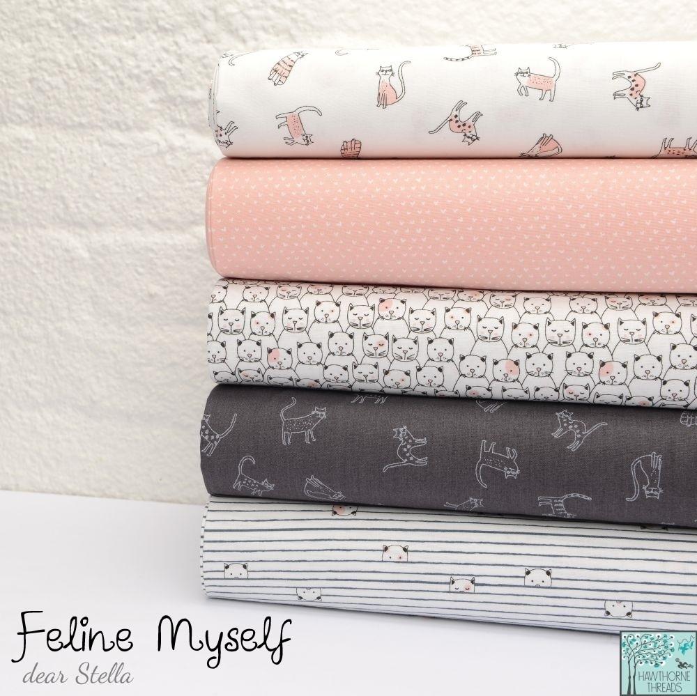 Feline Myself fabric poster