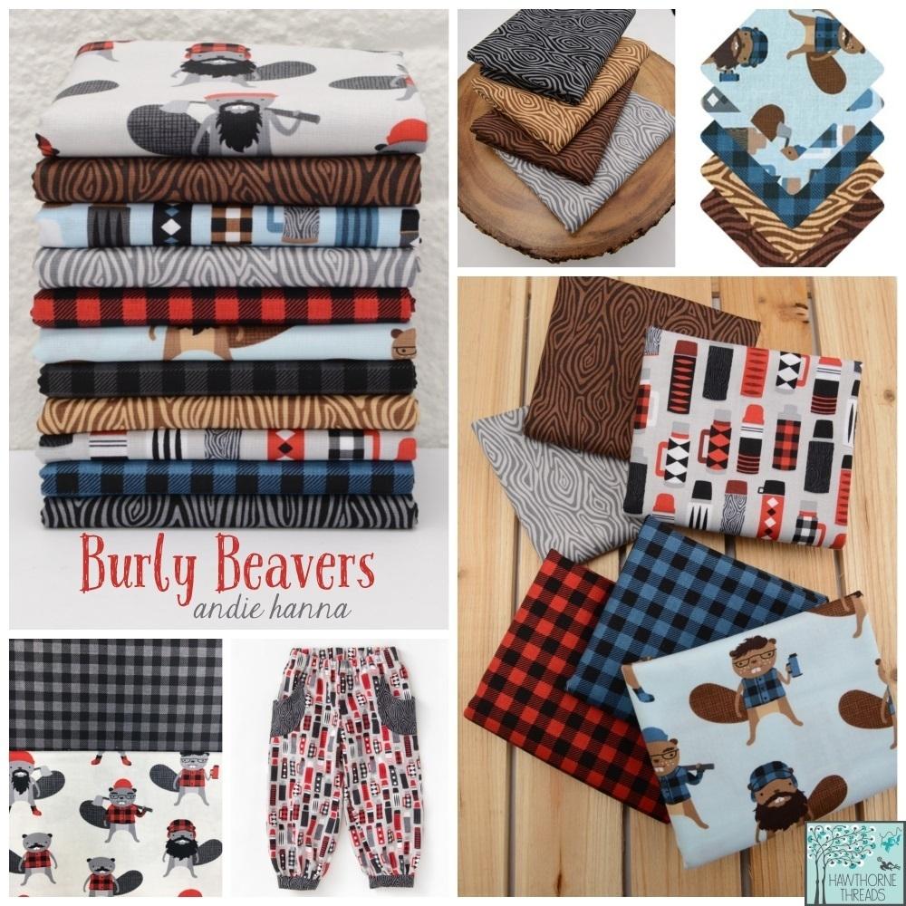 Burly Beavers fabric poster