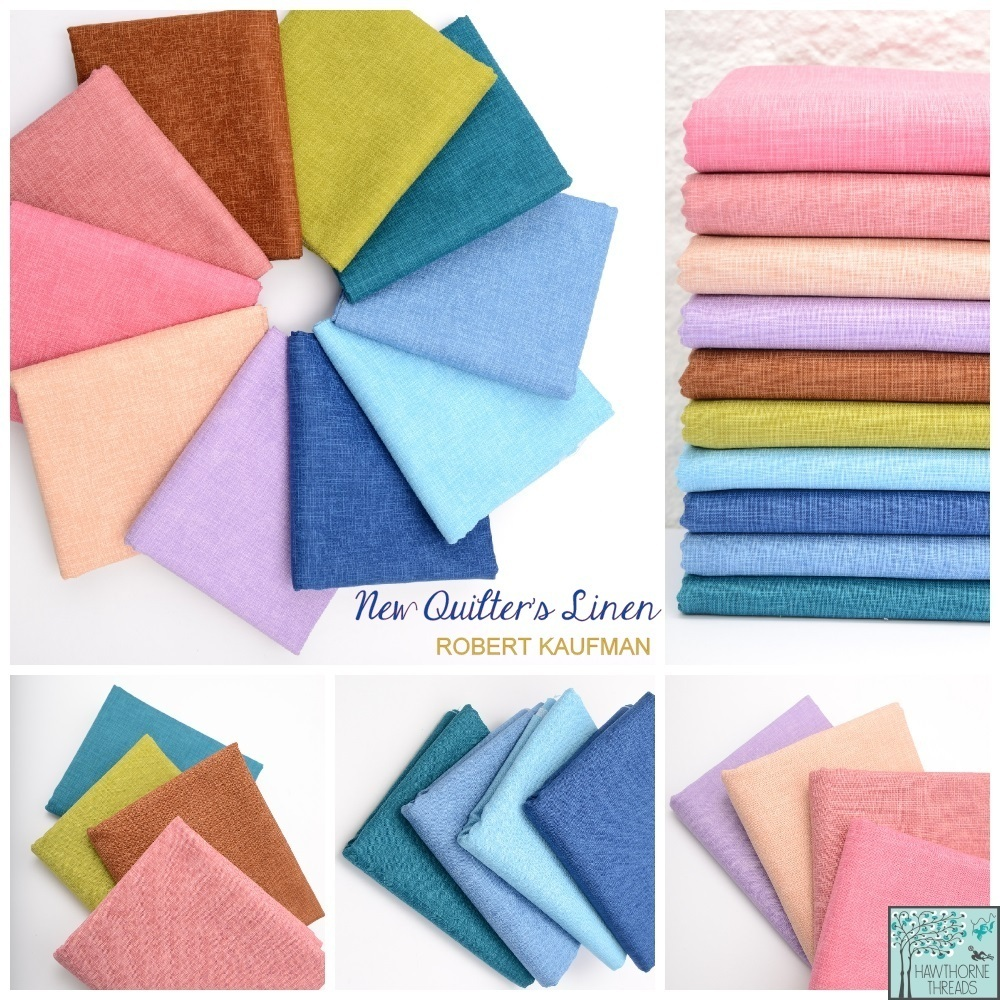 Quilters Linen fabric poster