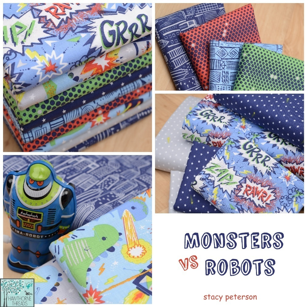 Monsters Vs Robots Fabric Poster