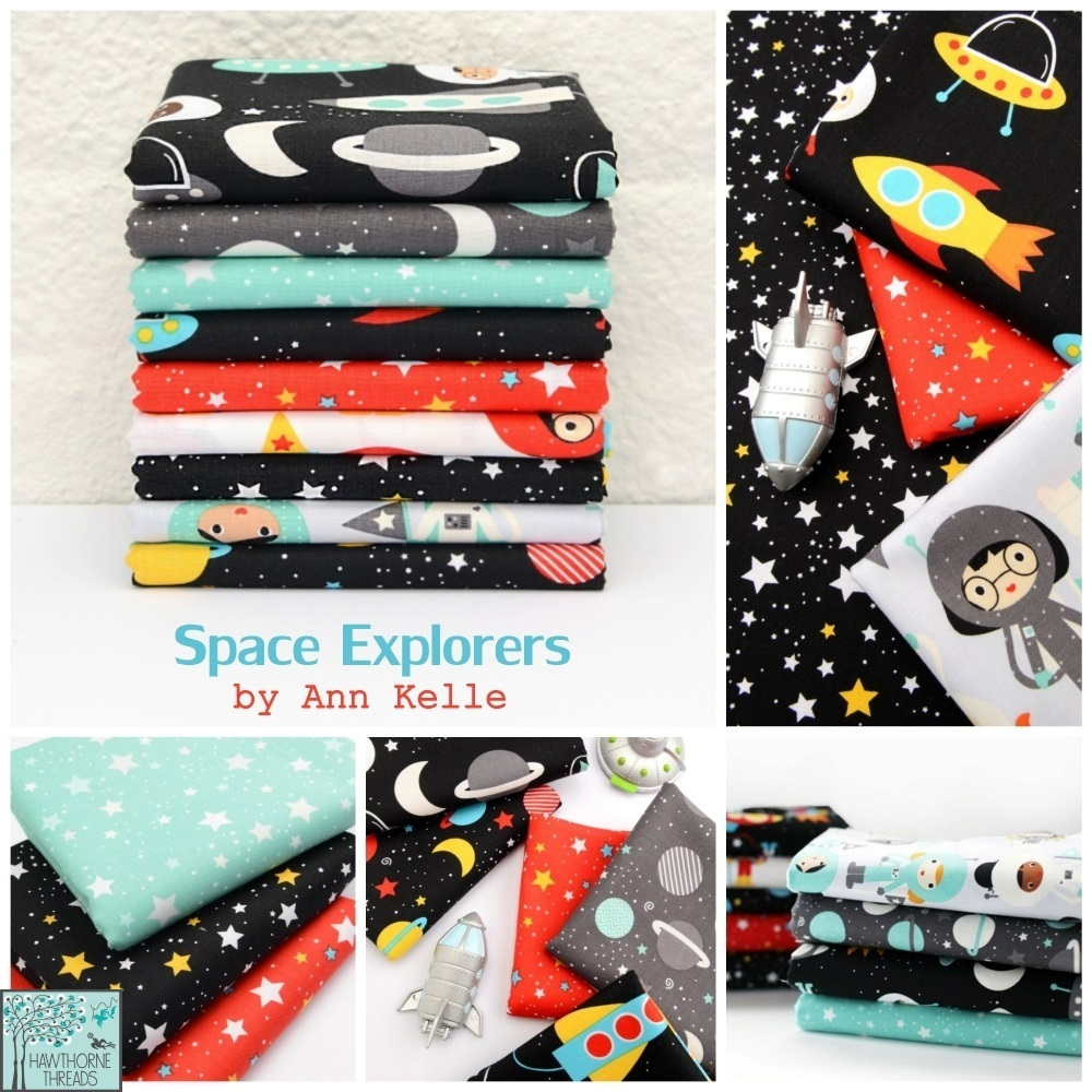 Space Explorers fabric poster