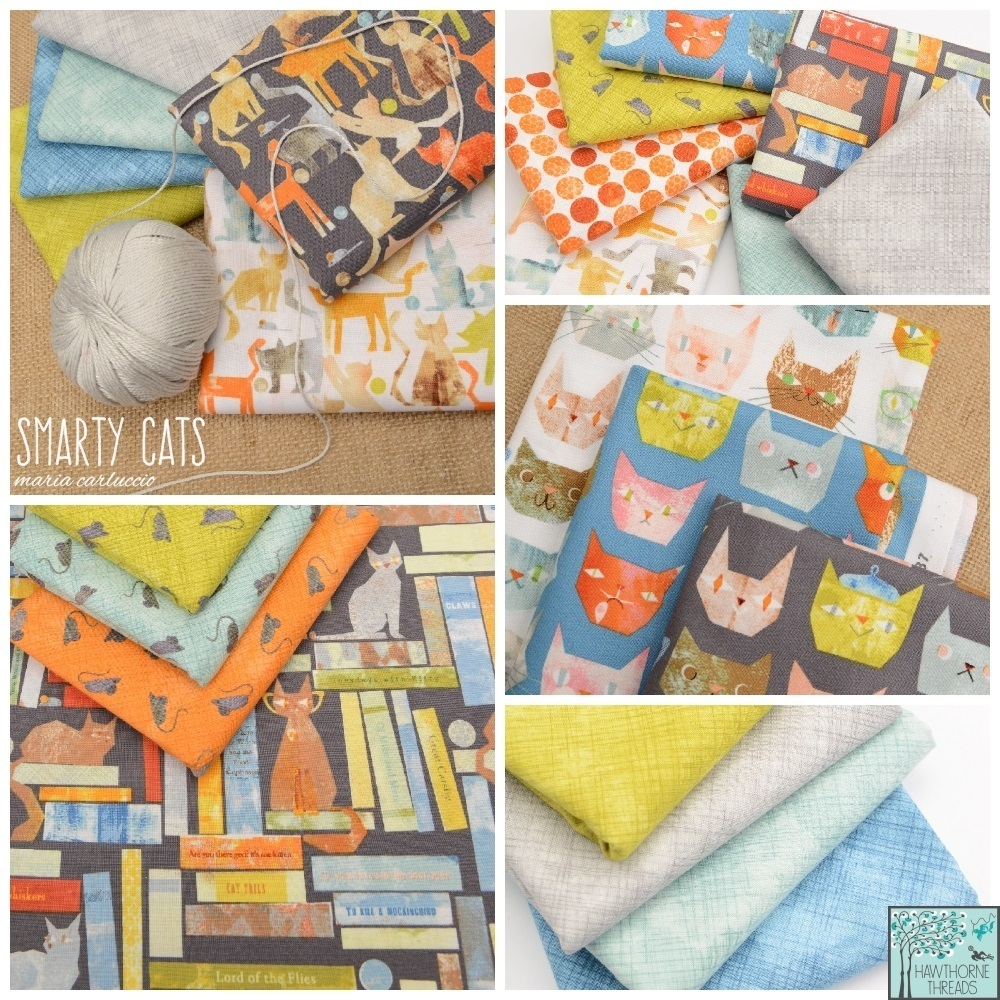 Smarty Cats Fabric Poster