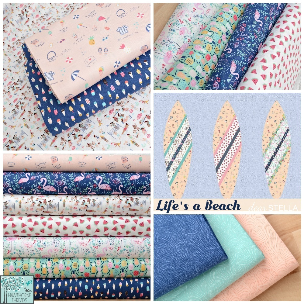 Lifes a Beach Fabric Poster