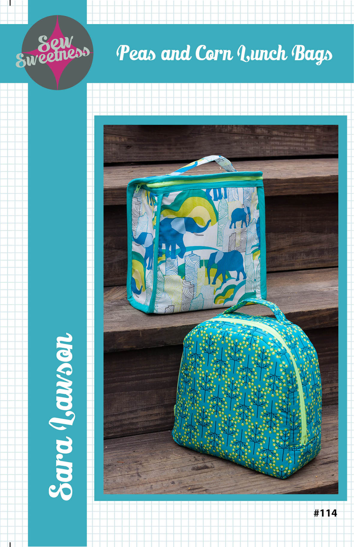 sew sweetness  peas and corn lunch bag sewing pattern