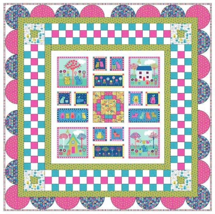 Makower UK - free quilt pattern  coming soon