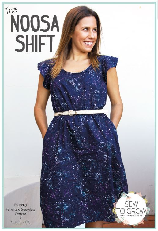 sew to grow  noosa shift sewing pattern