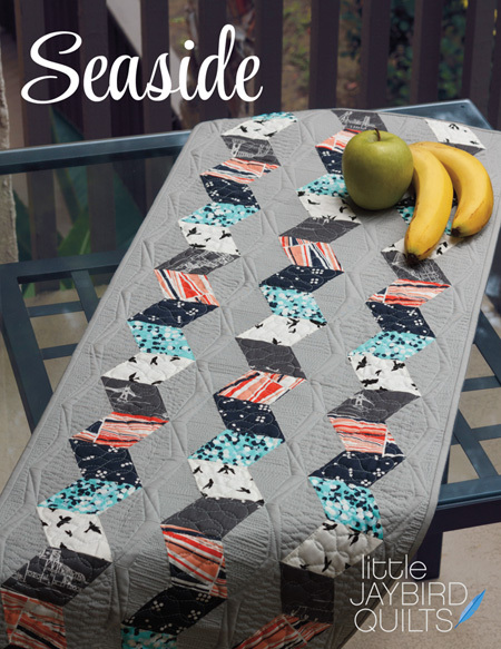 jaybird quilts  seaside table runner pattern sewing pattern