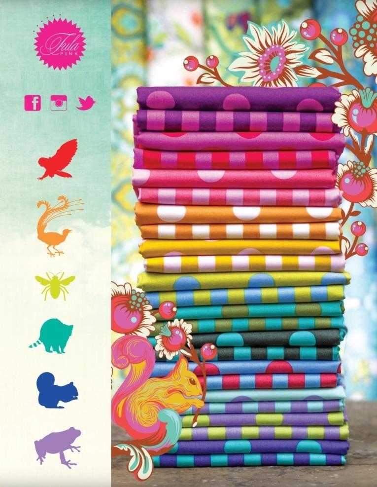 Tula Pink Pom Poms and Stripes