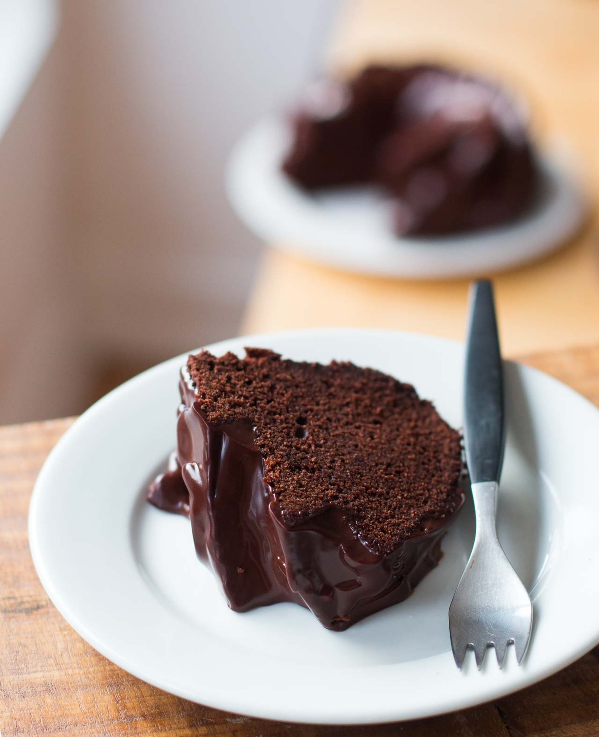 double chocolate bundt cake with chocolate glaze recipe-9