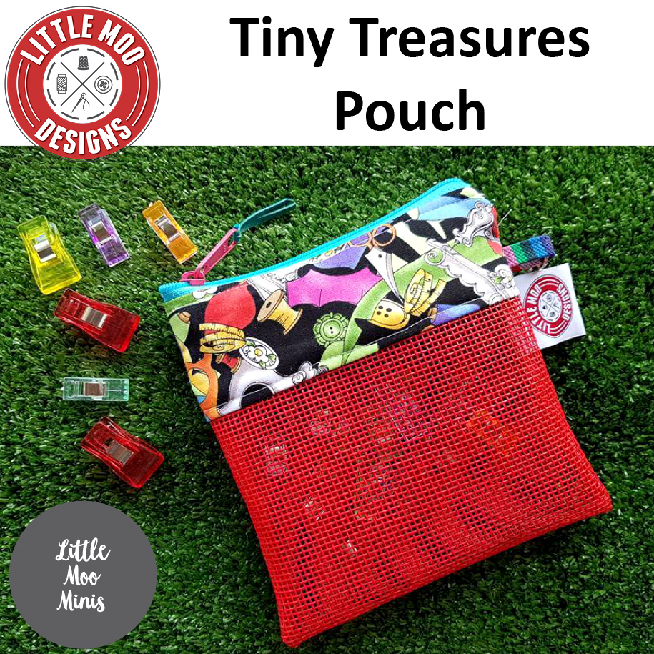 little moo designs tiny treasures pouch sewing pattern